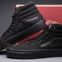 ... lowest price 28fb5 61ff6 Jual Sepatu Vans SK8 HI Full Black Hitam Full  Murah Murah ... d89aa53af8