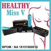 Obat alami menghilangkan bau tak sedap miss v CRYSTAL X BPOM BEK177