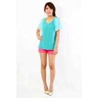 Jual Pakaian Wanita Blus Spandek Kombinasi Sifon Model terbaru Murah