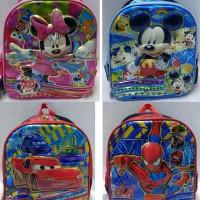 Jual Tas Ransel 7D Mickey Minnie Mouse Anak TK  Hello KItty Frozen Cowok Murah