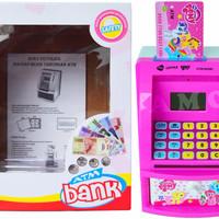 Jual Harga Grosir CELENGAN ATM LITTLE PONY WITH MONEY MAINAN EDUKASI EDUKAT Murah
