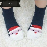 Jual MURAH Kaos Kaki Bayi baby Christmas Natal santa Claus Marun Biru Murah