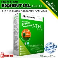 Jual Tech Titan 4 In 1 Essential Suite Dengan Kaspersky Anti-virus -3 User Murah