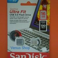 Jual SANDISK FLASHDISK 16 GB ULTRA FIT CZ43USB 3.0 UP TO 130 MB/S - 16GB Murah