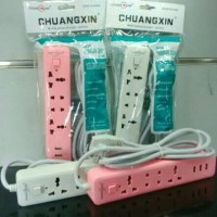 Jual Socket Usb Charger CHUANGXIN T01 cable 3 Ports 7 In 1 Murah