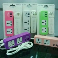 Jual Usb Socket 203 Cable Charger 3 Ports 5 In 1 Murah