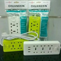 Jual Socket Usb Charger CHUANGXIN T02 Cable 3 Ports 9 In 1 Murah