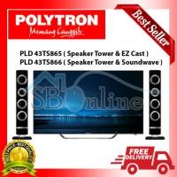 LED TV POLYTRON 43 Inch PLD 43TS865/PLD 43TS866 CINEMAX WAVE HRG PBRK