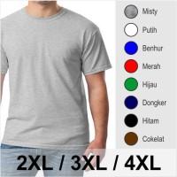 Jual Gudang Kaos Big Size - Kaos Oblong Polos Jumbo Big Size 4XL Murah