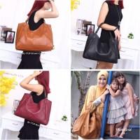 Tote Bag Zara Studded Zaskia BZ-772# Like Ori (Semi Ori) Bahan Pu Leat