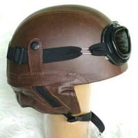 Helm Chip Chips Club Retro Classic Coklat