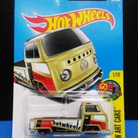 Hotwheels hot wheels Volkswagen VW T2 Pickup Pick Up Kombi Combi Cream