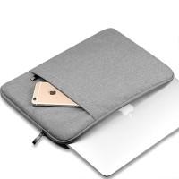 Tas Laptop/Softcase Nylon Macbook 11 inch 12 inch Sleeve Case - Abu