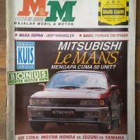 Majalah Mobil Motor 1993 Jeep Wrangler Ferrari Spider Mitsubishi BMW