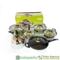 Jual Panci set Cookware Set Stainless Nexia NX-1.1 isi 12 pcs  Murah