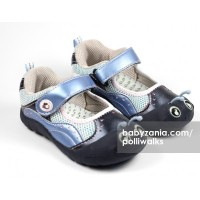 Polliwalks Shoes with Velcro Strap Inchee Navy T2909