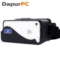 Jual  Cardboard Virtual Reality for iPhone 55s5c Head Mount DIY Pl T3009 Murah