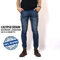 Jual CALYPSO DENIM BLUE WHISKER 3 (JOGGER DENIM). HIGH QUALITY Murah