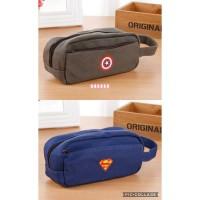 Jual Tempat Kotak Pensil Pencil Case Bag Super Hero Jumbo Murah
