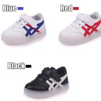 Sepatu Olahraga / Sneakers / Kets Anak Lampu / LED Onitsuka Shoes