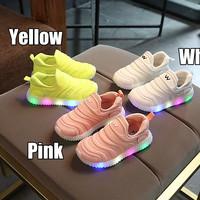 (21-30) Sepatu Olahraga / Sneakers / Anak Lampu / LED Dynamo Free Kids