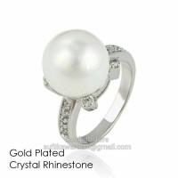 Jual cincin impor kristal cantik dengan mutiara gpc15 Murah