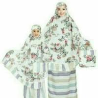 Jual Mukena Katun couple  Jepang Bellarose biru Murah