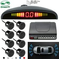 GreenYi Car detector reversing radar LED display parking 8 sensors