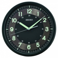 Jam Dinding Seiko QXA628K - Black Lumibrite