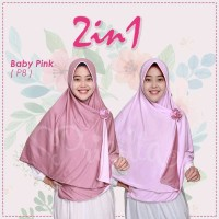 M-P8 Hijab Ori Pricilla 2 in 1 Pad Jilbab Instan Bol-Bal Cantik Murah