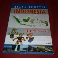 Jual Atlas Tematik Indonesia - 33 Provinsi Murah