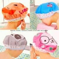 Jual Shower Cap Karakter   Topi Keramas Hello Kitty Lucu Rambut Dewasa Anak Murah