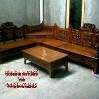 Jual Kursi Tamu Sudut Mahkota (furniture, sofa, nakas, rak, meja, lemari) Murah