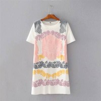 CASUAL DRESS WST 19168 White Flowery Print Dress