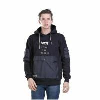 Asli Distro...Jaket sweater pria Hoodie-Jaket Kupluk Premium HT hitam