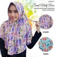 Hijab Instan Serut motif rose