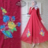 elegan premium branded murah mewah gamis longdress big size long dress