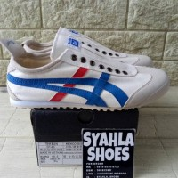 ONITSUKA TIGER DELUXE MEXICO 66 SLIP ON WHITE BLUE RED BNIB