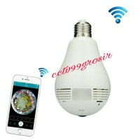 SPYCAM BOHLAM BULB 360 PANORAMIC WIFI IP CAMERA 1.3 MP WITH WHITE LED