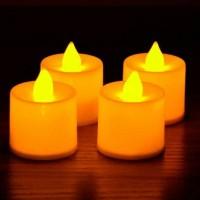Jual Lilin Electrick hias sensor tiup LED kuning mini candle Murah