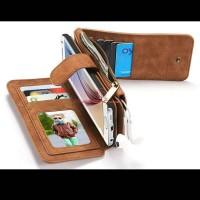 Dompet Kulit HP Samsung S6 Edge dengan 13 Slot Kartu