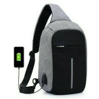 Jual tas sling bag|tas selempang usb|slempang usb|tas anti maling|tas usb Murah