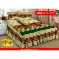 Jual Sprei rumbai Deluxe Kintakun Gold Gucci size 180 Murah