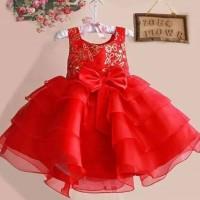 Jual  Dress CNY Imlek RED brand Zoe Big BOW T2909 Murah