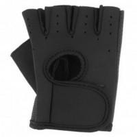 Jual Sarung Tangan Fitness Half Finger Size L Black Murah