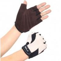 Jual Sport Exercise Bike Half Finger Gloves / Sarung Tangan Pelindung Black Murah