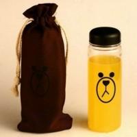 Botol Minum Plastik Karakter Line Sally & Brown 500ml Brown