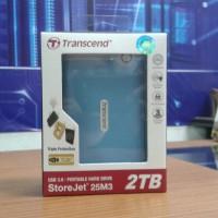 Jual HDD / Harddisk External Transcend 2TB StoreJet [25M3] Anti Shock Ori Murah
