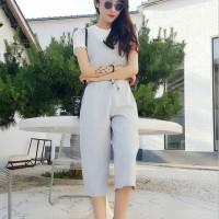 Jual Top + Jumpsuit  - Pakaian One-Piece Wanita Gray Comfort Two pcs (S) 33 Murah