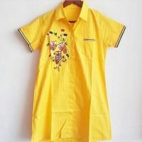 Jual OK92-100 FIT L REALPIC MINI DRESS TSHIRT LONG HEM LENGAN PENDEK OWL Murah